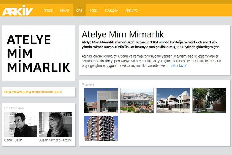 Atelye Mim Mimarlık profili Arkiv'de yayınlandı